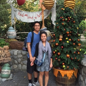 Here is our official Christmas greeting for 2014, taken at Disneyland. Fun fact: we were celebrating our 7th Anniversary.