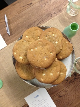 giant cream filled cookies.