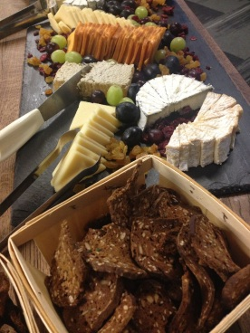 cheeses, meats, and breads from the Weebly kitchen.