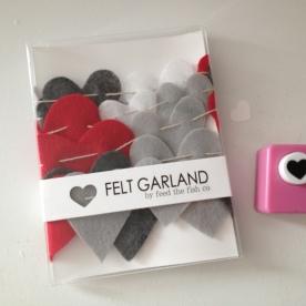felt heart garland.
