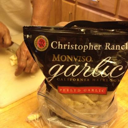 frozen garlic.