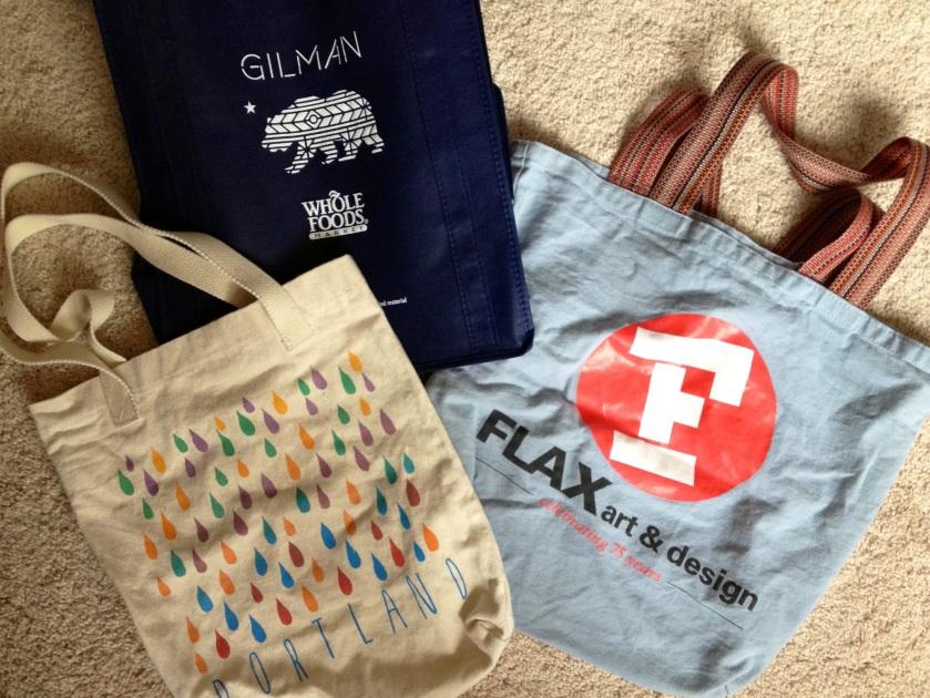 reusable bags.
