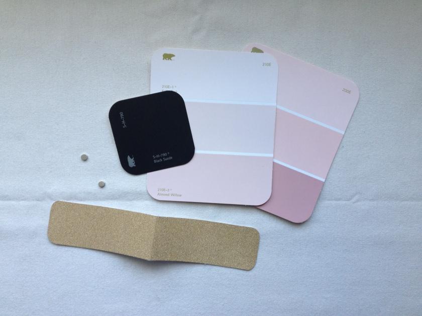 color samples & magnets.