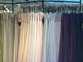 Dresses galore, in all the colors.
