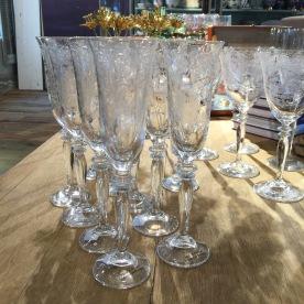 Vintage inspired glassware.