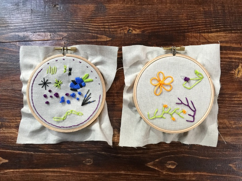 my sampler hoops.