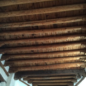 the roof.
