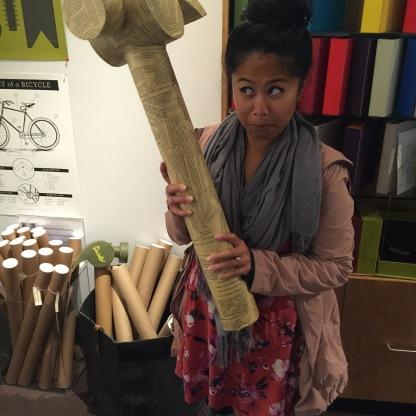 paper hammer.