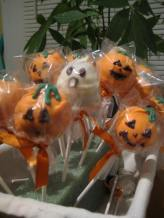 Pumpkin cake pop patch.