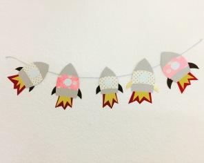 paper rockets.