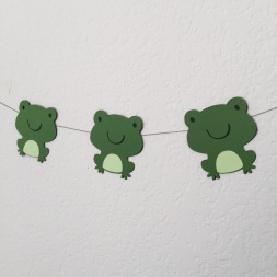 paper frogs.