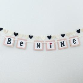be mine + felt hearts.