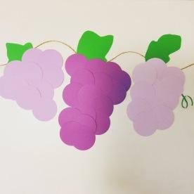 paper grapes.