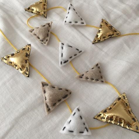 triangle felties.