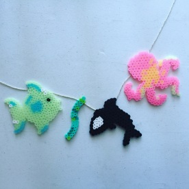 fuse bead sea creatures.