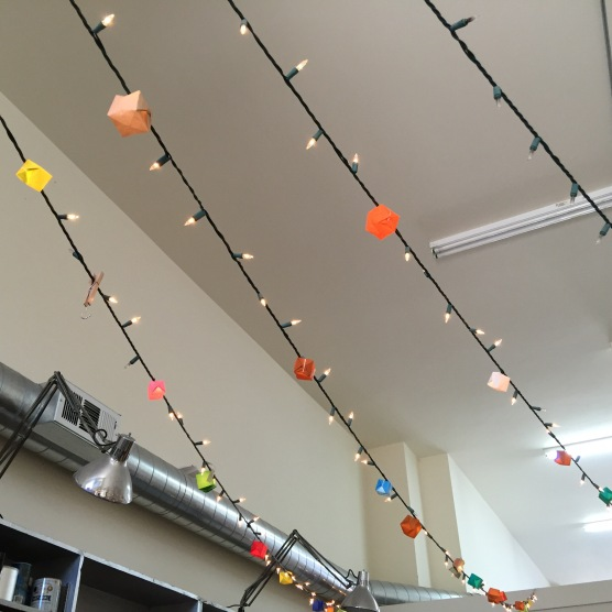 origami lights.