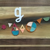 G is for geometric shapes inspired by Clouds and Ladders.