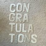 """Sparkly """"Congratulations""""."""