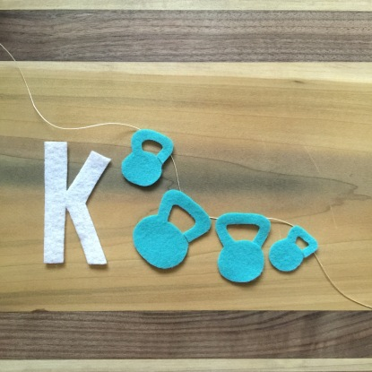 K is for kettleballs inspired by Janie XY.