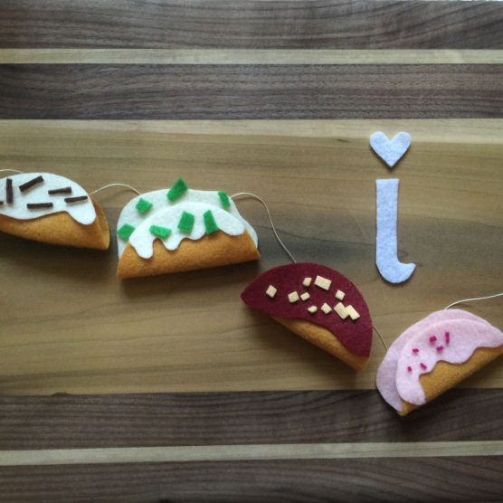 I is for ice cream tacos inspired by Rocko's Choco Taco.