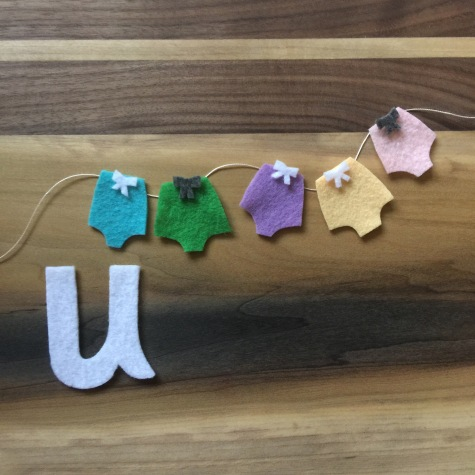 U is for underwear inspired by Little Four Store.