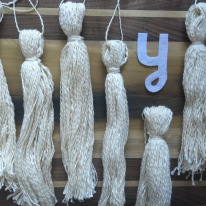 Y is for yarn tassels inspired by the Loome.