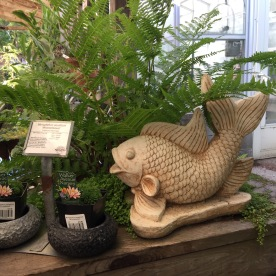 Garden sculptures.